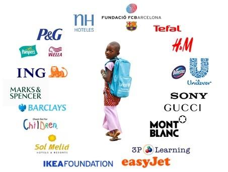UNICEF'in küresel ortaklıklarından bazıları
